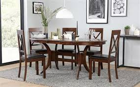 dark dining room furniture. plain furniture townhouse oval dark wood extending dining table  with 6 kendal chairs  brown seat pad and room furniture