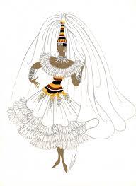 рисунок эскиз костюмадевушка в белом платье купить в москве Rus