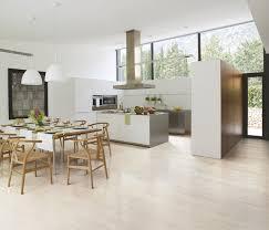 Porcelain Tiled Kitchen With Natural Lighting modern-kitchen
