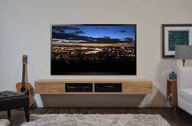 Floating Media Stand Contemporary Blonde TV Cabinet - Mayan Natural on  Etsy, $665.00 | Great room | Pinterest | Blondes, Contemporary and TVs