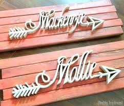 custom wooden arrow name plaques affixed to barn wood such a great personalized house signs uk