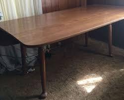 antique maple dining room set. vintage ethan allen heirloom maple drop-leaf spoon foot harvest table antique dining room set