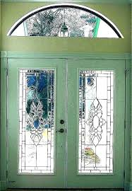 stained glass door inserts exterior doors with stained glass windows decorative front doors stained glass door