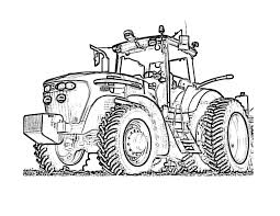 Tractor Pictures To Colour With Farm Tractor Coloring Page Free