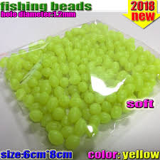 luminous <b>Oval fishing beads 300pcs lot</b> luminous beads fishing ...
