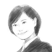 データ納品ホームページブログの似顔絵イラストを作成すっきりした鉛筆画風の似顔絵cg画像データ