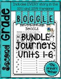 journeys second grade boggle the bundle for units 1 6
