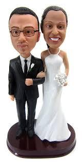 Custom Tall Bride Short Groom Wedding Cake Topper