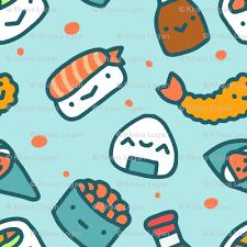 cute sushi wallpaper. Modren Cute Cute Sushi Food Fabric Inside Wallpaper S