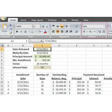 excel loan amortization schedule image 1