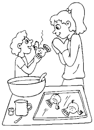 Small Picture Cooking Coloring Pages Coloring Home