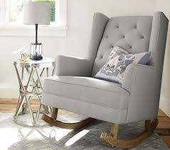 modern tufted wingback rocker stylish nursery chairs pottery contemporary furniture rocking chair for best home decoration sets uk where to baby crib