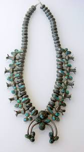 old navajo coin silver natural turquoise squash blossom necklace 1950 1960s old jewelry items