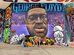 Artists Paint George Floyd Memorial on ...