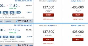 Delta Airlines Removed Award Chart Best Picture Of Chart