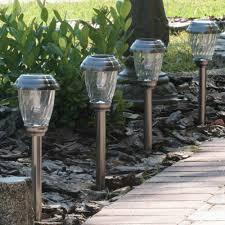 Smart Living Charleston Copper Finish Pathway Lights 6 Charleston Solar Pathway Lights