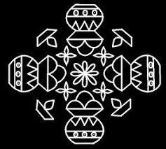 Simple 5 pulli pongal paanai kolam mayil kolam sankranti peaock dots rangoli bhogi gundala muggulu. 17 3 Parallel Dots Neer Pulli Kolam Put 17 Dots In The Center 3 Lines Leave One Pattern Design Drawing Rangoli Designs Images Rangoli Designs With Dots