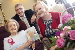 Betty celebrates 100th birthday at The Manor House, Whickham
