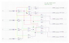 archaic digital design fig 3 logic diagram for the traffic lights circuit