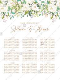 Seating Chart Wedding Wedding Seating Chart Welcome Banner Invitation Set White Rose Peony Herbal Greenery Pdf 5x7 In Wedding Invitation Maker