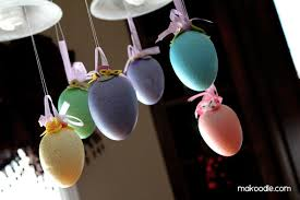 hanging easter eggs decor
