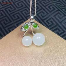 925 silver inlaid jade lucky jade pendant nephrite certified natural chinese hetian white jade high quality birthday gifts malaysia