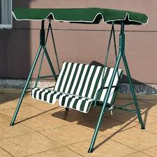 outdoor loveseat swing porch wooden hanging garden patio canopy hammock with stand cushions