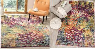 monaco collection modern abstract watercolor pink multi area rug 35 8 112 5 shipped