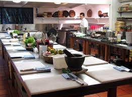 Awesome Kitchen Table Cooking School With Home Cabinets Design For
