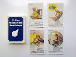 Rare Dutch Philips Gloeilampen Kwartetspel Philips Lightbulbs Quartet Playing Cards Carta Mundi