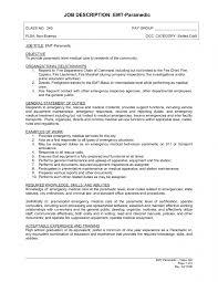 Emt Job Description For Resume | Resume Template Free
