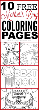 10 Free Mother S Day Coloring