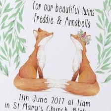 twins christening invitations