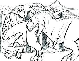 Tyrannosaurus Coloring Pages Trex Page Home Improvement T Colo