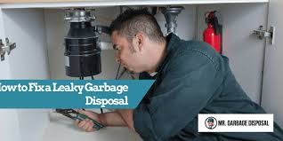 how to fix a leaky garbage disposal