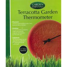 garden essentials terracotta garden thermometer gifts for grandpas at the works