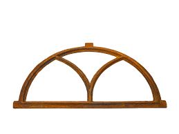Nostalgie Stallfenster Bogen Fenster 44x86cm Eisen Gusseisen Antik