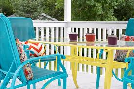 diy upcycled deck furniture accessories serendipity refined blog white spray painted metal patio