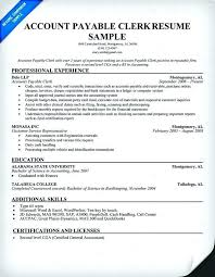 Accounts Clerk Resume Accounting Clerk Resume Objective Examples Accounts Surprising Fresh