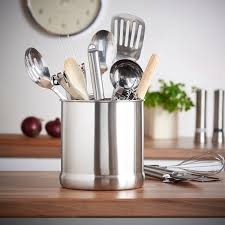 Amazon.com - VonShef Stainless Steel Utensil Holder Large Capacity  Organizer Caddy, Great for Keeping Your Kitchen Tidy, 7 Inches High -