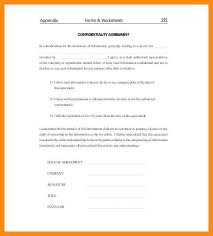 Standard Nda Agreement Template 12 13 Sample Nondisclosure Agreement Elainegalindo Com