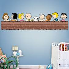 charlie brown and snoopy wall art