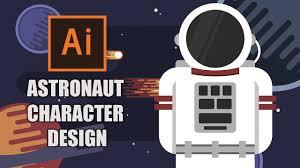 Astronaut Character Design Illustrator Tutorial Astronaut Flat Character Design How To Make A Character In Illustrator