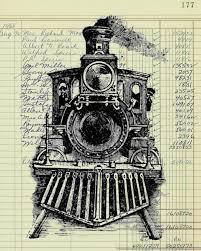 authentic vintage ledger paper print train locomotive engine railroad from 1800 s catalog art print wall rustic farmhouse wall decor vl3322