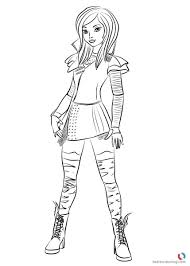 Descendants 2 Coloring Pages Evie And Mal Pics Elegant For Random