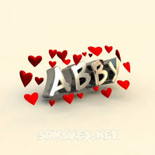 free abby name wallpaper a 3d