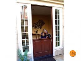 dutch colonial entry doors classic 42x96 plastpro drm60 fiberglass dutch door with shelf installed in costa