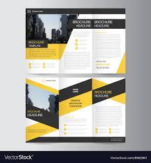 Design Brochure Template Trifold Leaflet Brochure Flyer Template Design Set