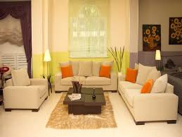 amazing feng shui living room with cozy cream leather sofa and square black coffee table