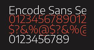 The Sans Semi Light Encode Sans Semi Expanded Light Free Font What Font Is